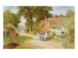 A Warwickshire Lane Giclee Print by Arthur Claude Strachan