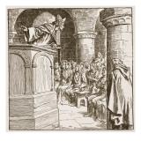 Dunstan's Last Sermon Giclee Print by Frederick Pegram