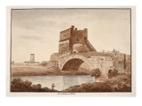 Ponte Salario, or Sabine, 1833 Giclee Print by Agostino Tofanelli