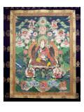 Tanka of Padmasambhava, C.749 Ad Giclee Print by  Tibetan School