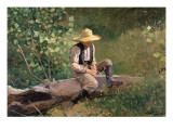 The Whittling Boy, 1873 Giclee Print by Winslow Homer