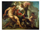 Hercules Crowned by Fame Gicle-tryk af Sebastiano Conca