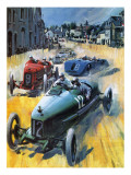 British Grand Prix Victory Giclee Print by Graham Coton