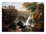The Cascade at Tivoli Gicl&#233;e-Druck von Claude-Joseph Vernet