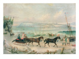 A View of Quebec in Winter Giclee Print by William Wilson