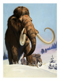 Mammoths from the Ice Age, 1969 Reproduction proc&#233;d&#233; gicl&#233;e par Mcbride 