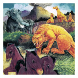 Beasts from Long Ago Giclee Print by Richard Hook