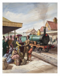 The Sunday &#39;Train-Call&#39; Giclee Print by Ralph Bruce