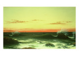Seascape: Sunset, 1861 Reproduction proc&#233;d&#233; gicl&#233;e par Martin Johnson Heade