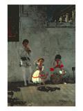 Street Scene in Seville Giclee Print by Thomas Cowperthwait Eakins