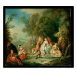 A Fete Champetre Giclee Print by Jean-Baptiste Pater
