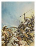 Boers Fighting Natives Giclee Print by McConnell