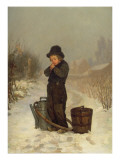 Warming His Hands, 1867 Premium Giclee Print by Henry Bacon