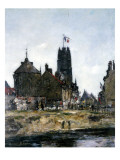 Dunkirk, Festival Day, 1889 Giclee Print by Eugène Boudin