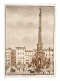 The Piazza Navona Obelisk, 1833 Giclee Print by Agostino Tofanelli