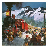Trans Siberian Railway Giclee Print by  English School