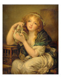 Girl with the Doves Giclee Print by John Constable