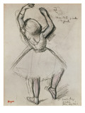 Rear View of a Dancer Giclee Print by Edgar Degas