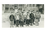 Schoolteacher and Pupils, 1936 Giclee Print by Chinese Photographer