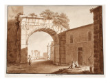 The Arch of Gallienus, 1833 Giclee Print by Agostino Tofanelli