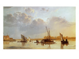 Boats on a River, C. 1658 Giclee Print by Aelbert Cuyp