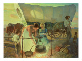Seeking the New Home Giclee Print by Newell Convers Wyeth
