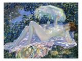 Sunbathing, C.1913 Giclee Print by Frederick Carl Frieseke