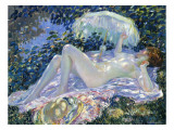Sunbathing, C.1913 Premium Giclee Print by Frederick Carl Frieseke