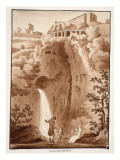 The 'Belvedere' Cascade, 1833 Giclee Print by Agostino Tofanelli