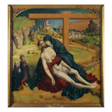 Pieta with Two Donors Giclee Print by Fernando Gallego