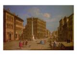 Piazza Santa Trinita, Florence Giclee Print by Giuseppe Zocchi