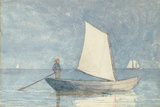 Sailing a Dory, 1880 Giclee Print by Winslow Homer