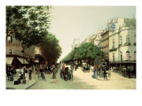 Le Boulevard Des Italiens Giclee Print by Edmond Georges Grandjean