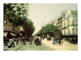 Le Boulevard Des Italiens Giclee Print by Edmond Georges Grandjean