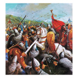 The Battle of Hastings Giclee Print by  English School