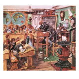 Victorian School Room Giclee Print by Peter Jackson