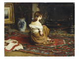 By the Fireside, 1878 Reproduction procédé giclée par Frank Holl