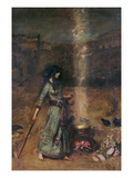 The Magic Circle, 1886 Premium Giclee Print by John William Waterhouse