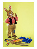 Brer Rabbit with a Paintbox Giclee Print by  English School