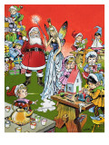 Santa Claus's Toy Factory, 1969 Giclee Print by Jesus Blasco