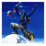 On the Top of Everest Giclee Print by  English School