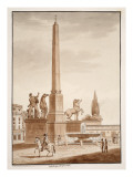 The Quirinal Obelisk, 1833 Giclee Print by Agostino Tofanelli