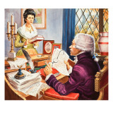 Robespierre and Eleanore Duplay Giclee Print by Robert Brook