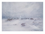 A Blizzard on the Barrier Giclee Print by George Marston