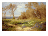 The Primrose Gatherers Giclee Print by John Clayton Adams