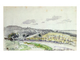 View of Clamart, 1864 Giclee Print by Johan-Barthold Jongkind