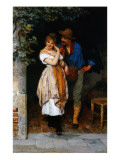 Couple Courting, 1887 Giclee Print by Eugen Von Blaas