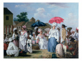 The Linen Market, Santo Domingo Giclee Print by Agostino Brunias