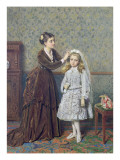Her First Communion Giclee Print by George Goodwin Kilburne
