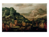 Extensive Mountainous Landscape Giclee Print by Hans Bol